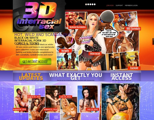 Interracial Sex 3 D