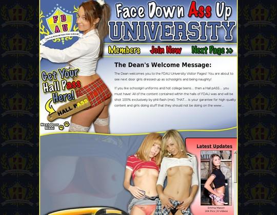 Face Down Ass Up University