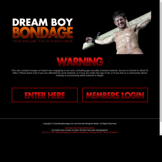 Dream Boy Bondage