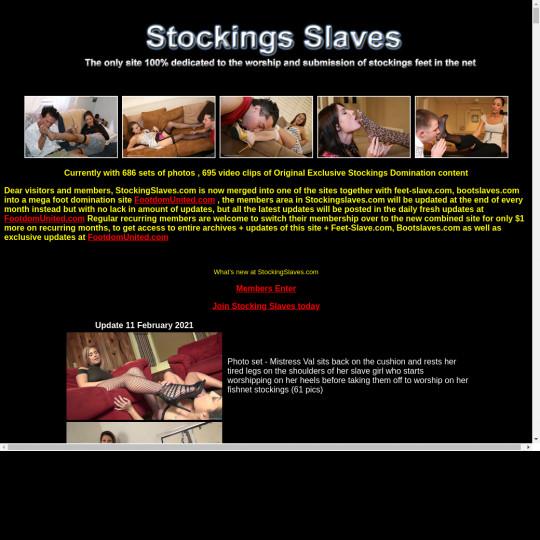 stocking slaves